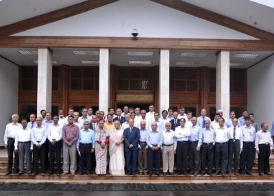 Muhammed Alamgir with Honble PM, UG VCs