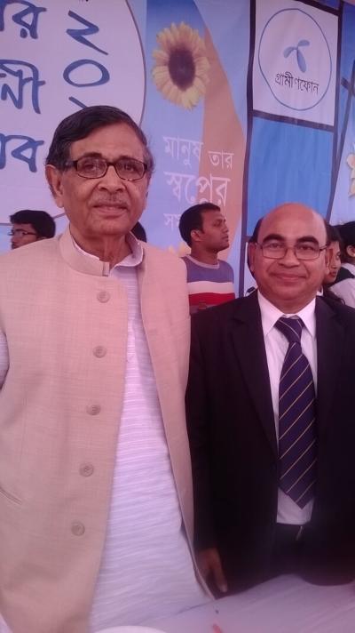 Muhammed Alamgir with Abdullah Abu Sayeed Sir at 2015
