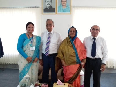 Muhammed Alamgir with Honble President and First Lady at 2018